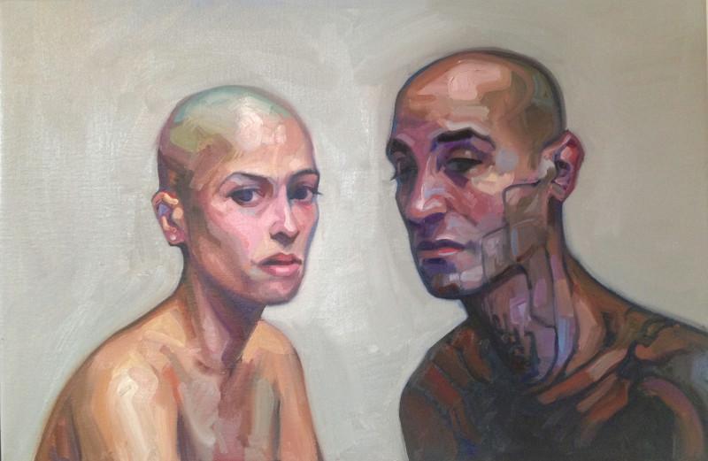 Портрет Cy и Caro художника Sandro Kopp