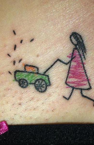 Татуировка на лобке