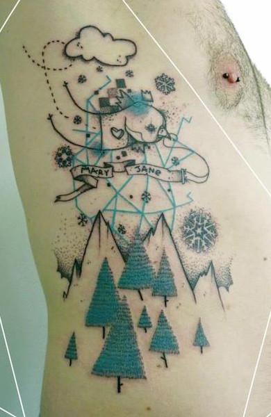 Татуировка на ребрах
