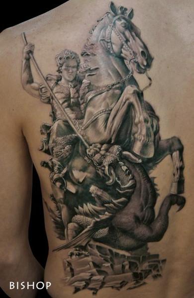 Татуировка Георгий Победоносец