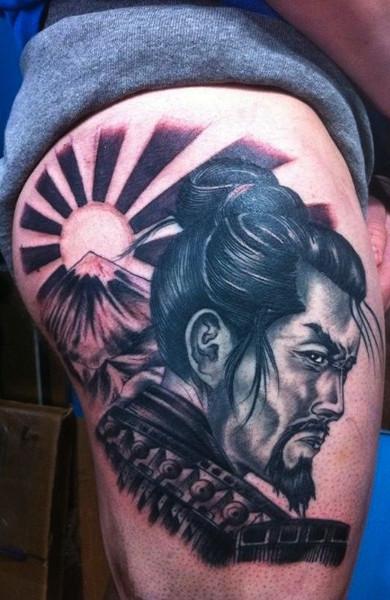 фото татуировка самурай