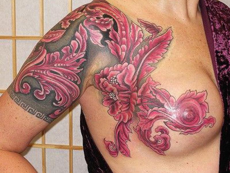 Скрытие татуировкой шрама после мастэктомии
