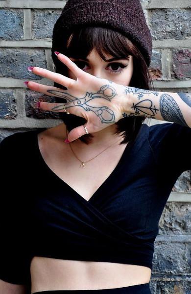 Татуировка ножницы