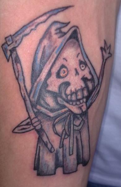 фото татуировка смерть с косой