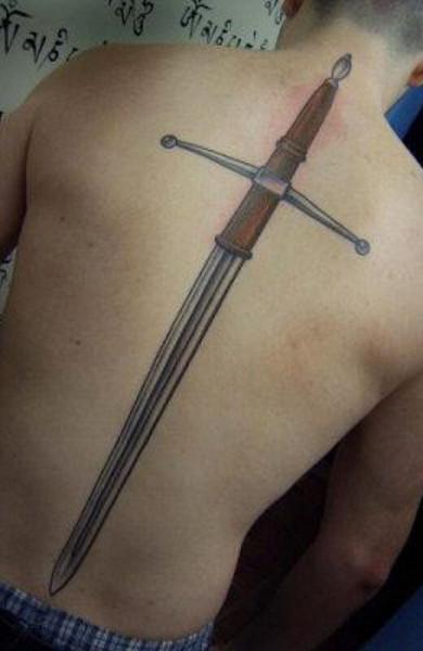 фото татуировка меч