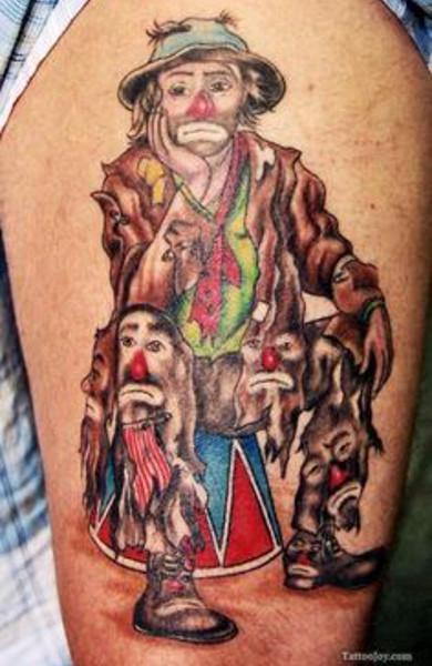 Татуировка клоун