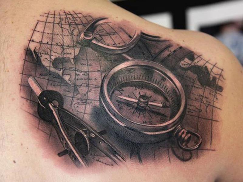 Татуировка компас и ее значение