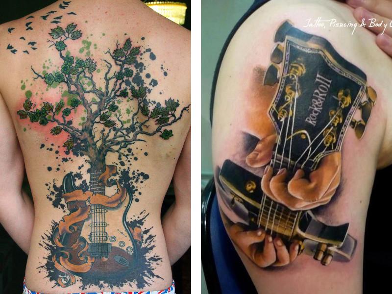 Татуировка гитара и ее значение