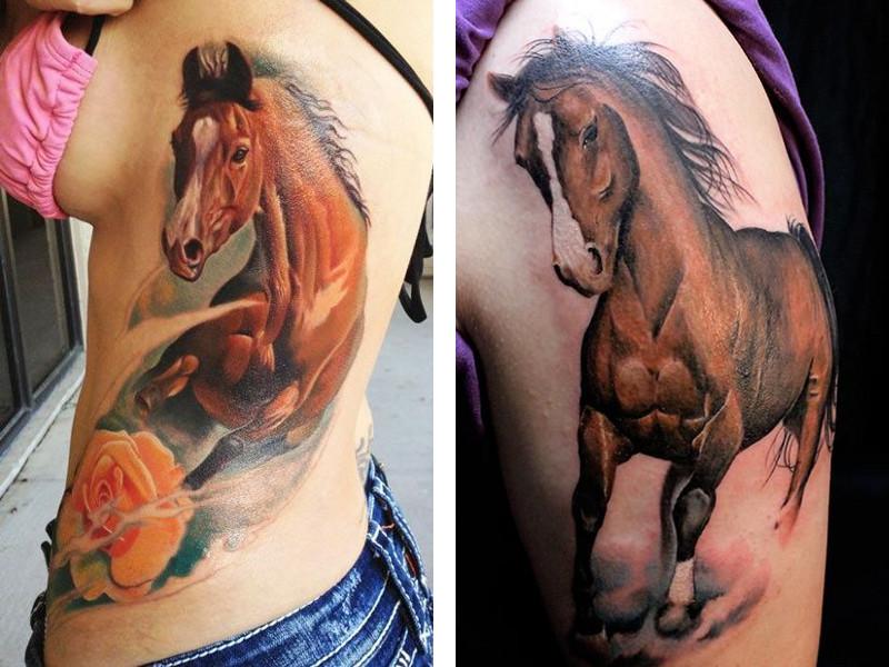 Татуировка лошадь и ее значение
