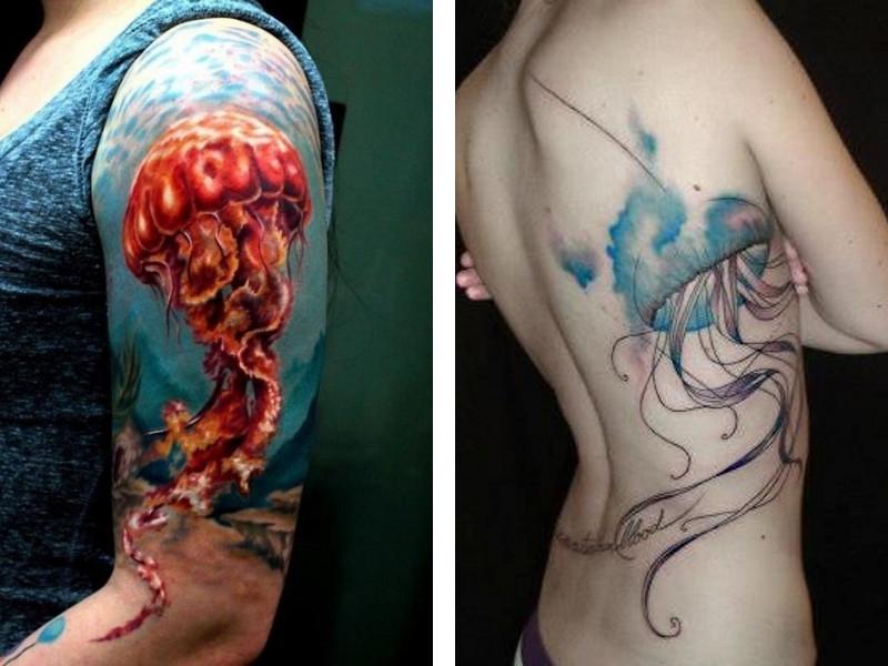 эскиз татуировки медуза и ее значение