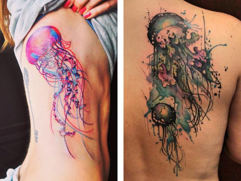 Две татуировки с изображением медузы