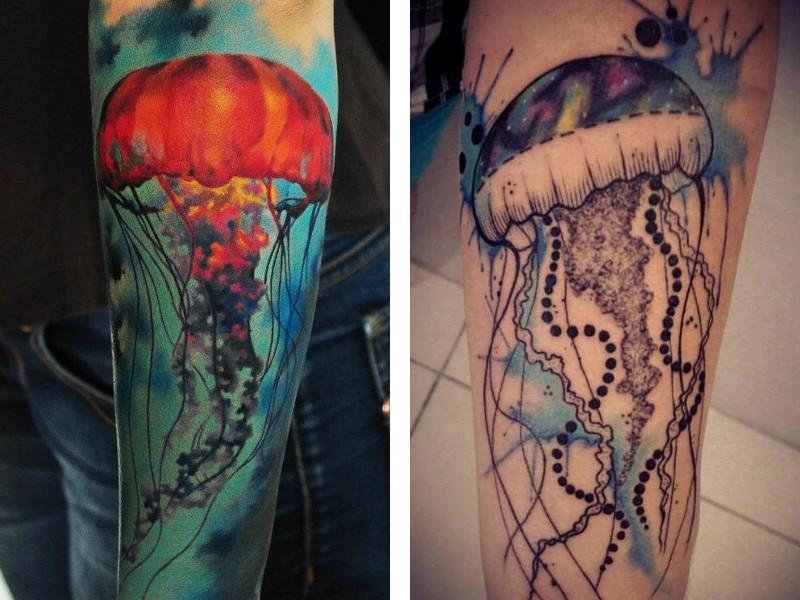 Уникальные тату медузы