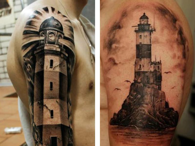 Татуировка маяк и ее значение