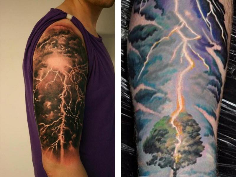 Татуировка молния и ее значение