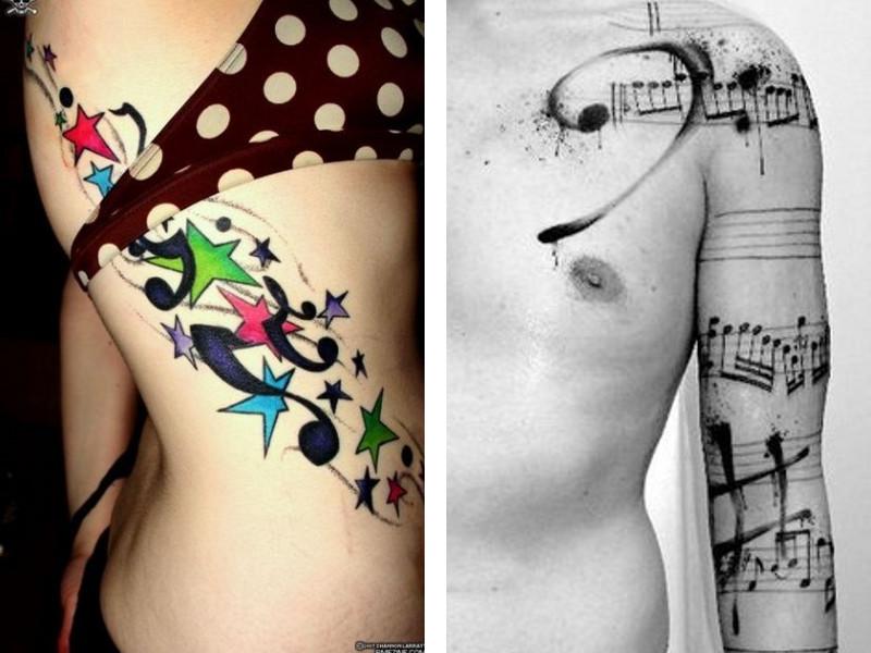 Татуировка ноты и ее значение