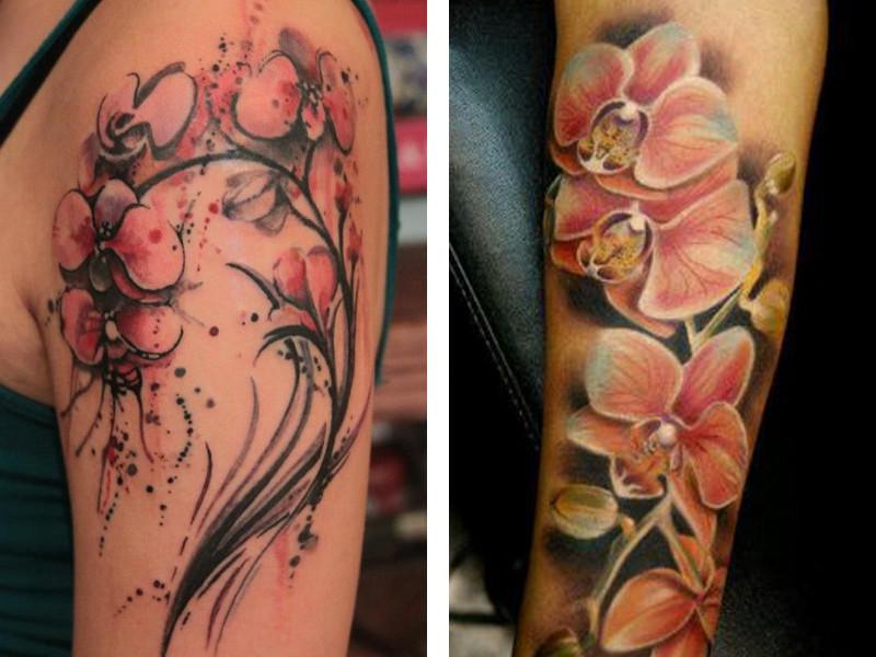 Татуировка орхидея и ее значение