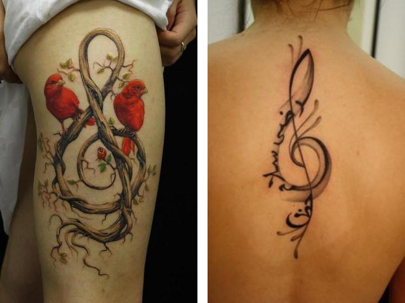 Татуировка скрипичный ключ и ее значение