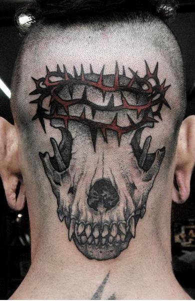 Татуировка на затылке