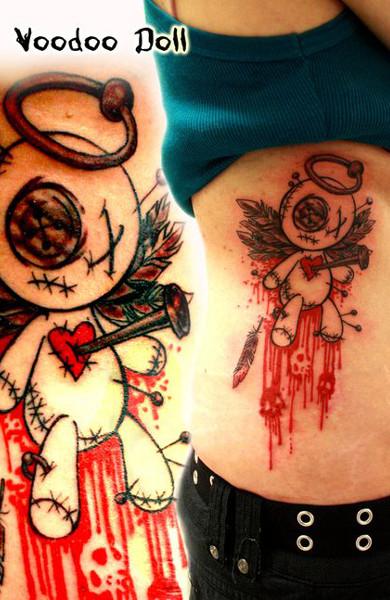 Татуировка кукла вуду